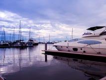 小游艇船坞游艇俱乐部芭达亚 库存照片
