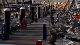 小游艇船坞特拉维夫 股票视频