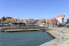 小游艇船坞的看法 库存图片