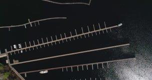 小游艇船坞的鸟瞰图在基辅 影视素材