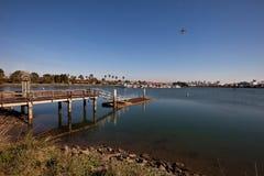 小游艇船坞船坞 库存照片