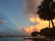 小游艇船坞萨拉索塔佛罗里达 免版税图库摄影
