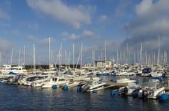 小游艇船坞赫尔辛堡 免版税库存照片