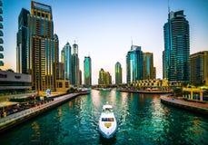 小游艇船坞迪拜 免版税库存照片