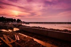 小游艇船坞重建 图库摄影