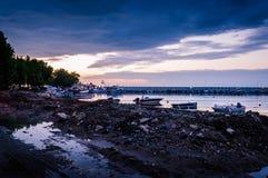 小游艇船坞重建 库存图片