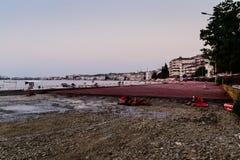 小游艇船坞重建 免版税库存图片