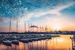 小游艇船坞阿雷西费 免版税库存图片