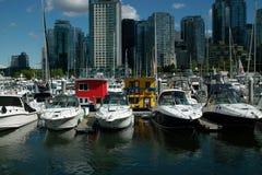 小游艇船坞, BC温哥华加拿大 图库摄影