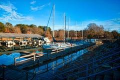 小游艇船坞2 免版税库存图片