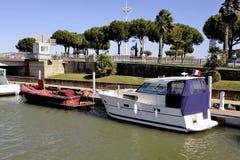 小游艇船坞Grau du Roi 库存照片