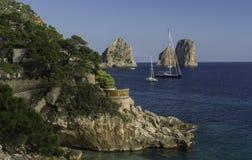 小游艇船坞Piccola,卡普里岛 库存图片