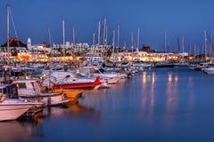 小游艇船坞Rubicon,兰萨罗特岛,西班牙 库存图片