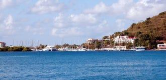 小游艇船坞Tortola 图库摄影