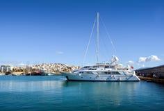小游艇船坞Zeas比雷埃夫斯希腊 免版税图库摄影