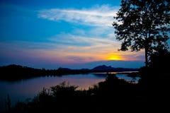 小湖在泰国 库存图片