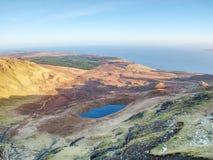 小湖山的和苏格兰高地 风景风景视图 免版税库存照片