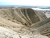 小溪侵蚀-沙漠小山 库存图片