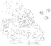 小潜水艇人员 免版税库存照片