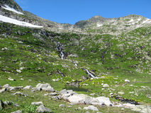 小瀑布下降山口 库存图片