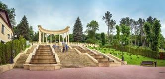 小瀑布台阶 Kislovodsk,俄罗斯, 17 Juny 2017年 免版税库存图片
