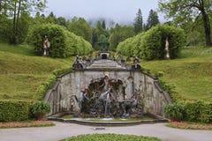 小瀑布喷泉 图库摄影