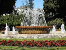 小瀑布喷泉 免版税库存照片