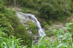 小瀑布在镇Naranjito,波多黎各 库存图片