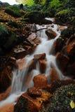 小瀑布在Czechswitzerland国家公园 库存照片