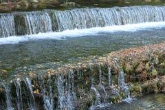 小瀑布在Plitvice国家公园 免版税库存图片