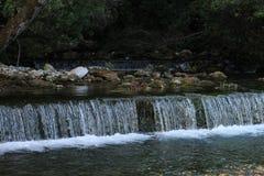 小瀑布在Plitvice国家公园 免版税库存照片