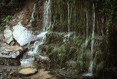 小瀑布是非常美丽和大气的 库存照片