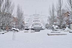 小瀑布楼梯,耶烈万,亚美尼亚 免版税库存照片