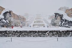 小瀑布楼梯,耶烈万,亚美尼亚 免版税库存图片