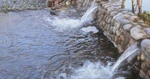 小瀑布池塘在公园 影视素材