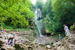 小瀑布瀑布 库存照片