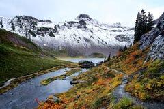 小瀑布的贝克山 库存图片