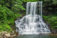 小瀑布秋天,贾尔斯县,弗吉尼亚,美国 免版税库存照片