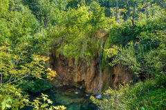 小瀑布顶视图  免版税图库摄影