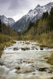 小瀑布, Fischlein谷,南蒂罗尔 免版税图库摄影