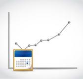 小点企业图表和日历例证 库存图片