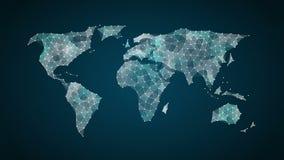 小点会集创造全球性世界地图,事互联网  财政技术 皇族释放例证