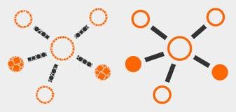 小点和平的传染媒介联系象 向量例证