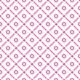小点和检查无缝的样式 免版税库存图片