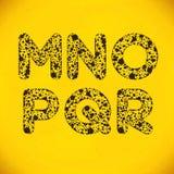 小点字母表从M到R 库存图片