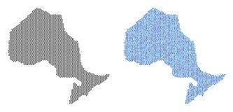小点安大略省地图抽象 向量例证