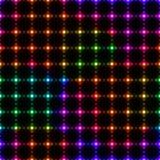 从小点的霓虹五颜六色的LED墙壁-无缝的背景 免版税图库摄影