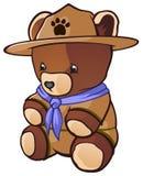 小熊侦察员女用连杉衬裤 库存例证