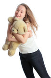 小熊女孩 免版税库存图片