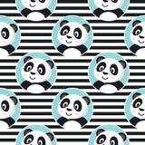 小熊猫无缝的样式 库存照片